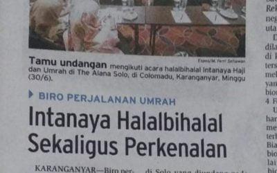 Halal Bihalal Jama'ah Umroh Intanaya 1440 H di Solo